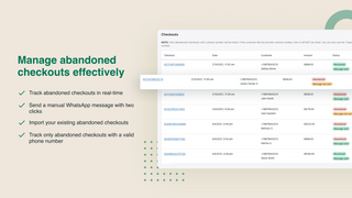 Track and manage abandoned checkouts in Shopify