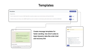Create and manage message templates easily