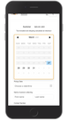 date picker optimised for mobile devices