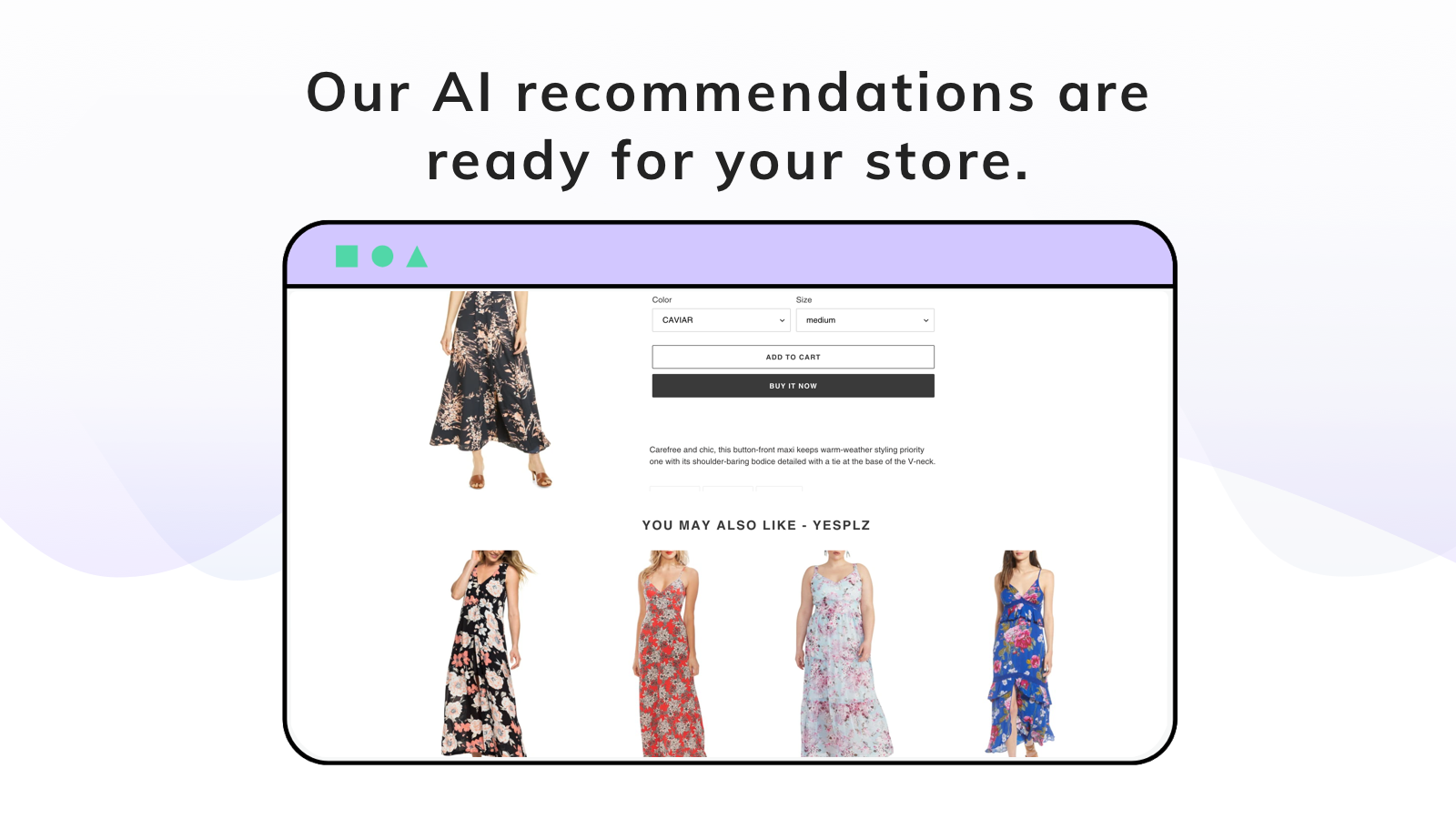 upsell recommendation results dresses