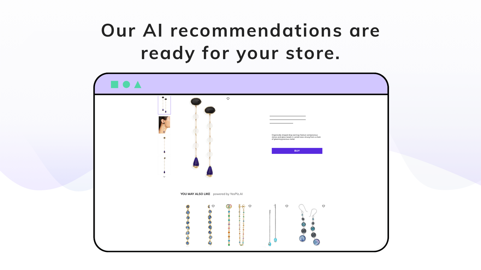upsell recommendation results earrings