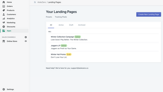 Create and manage multiple landing pages