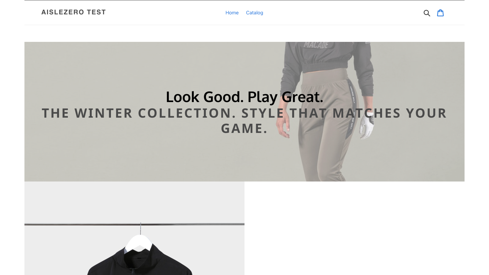 Landing pages are displayed with your store's header and footer