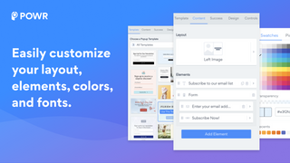 Easily customize your Shopify popup layout, colors, and fonts.