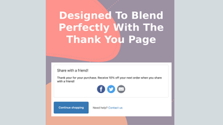Designed to match the thank you page