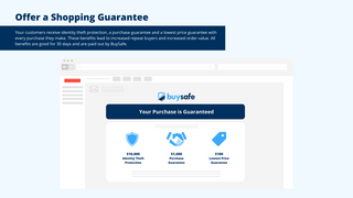 Offer a shopping guarantee to your customers