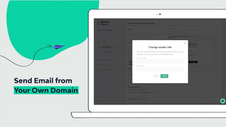 Emails can be sent by your own domain to improve its integrity