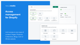 Access management for Shopify