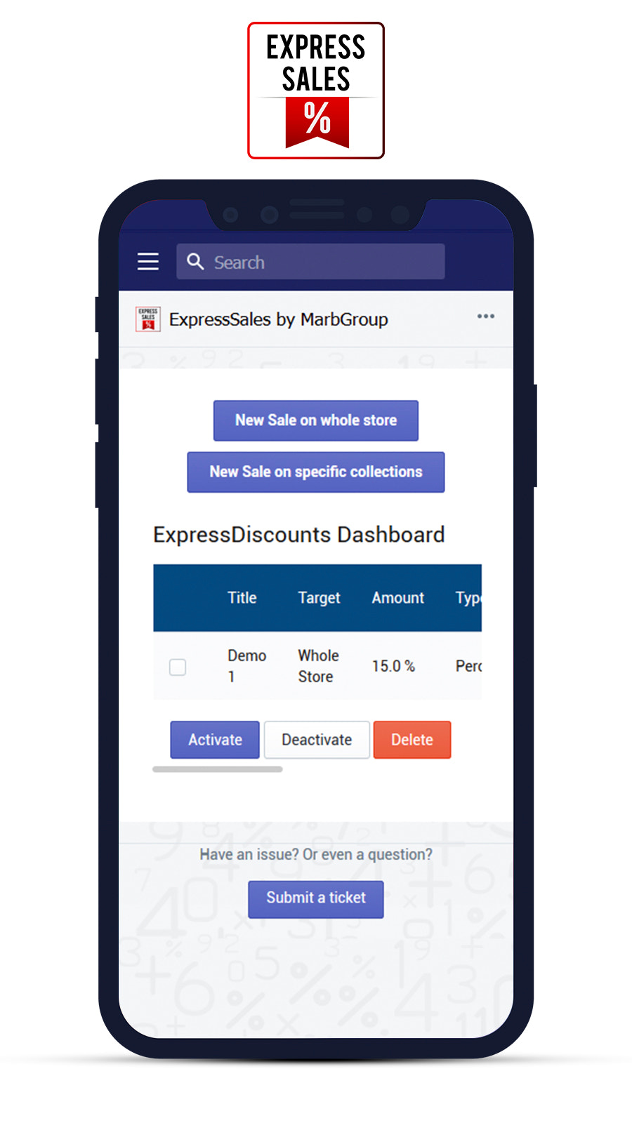 ExpressSales check existing sales