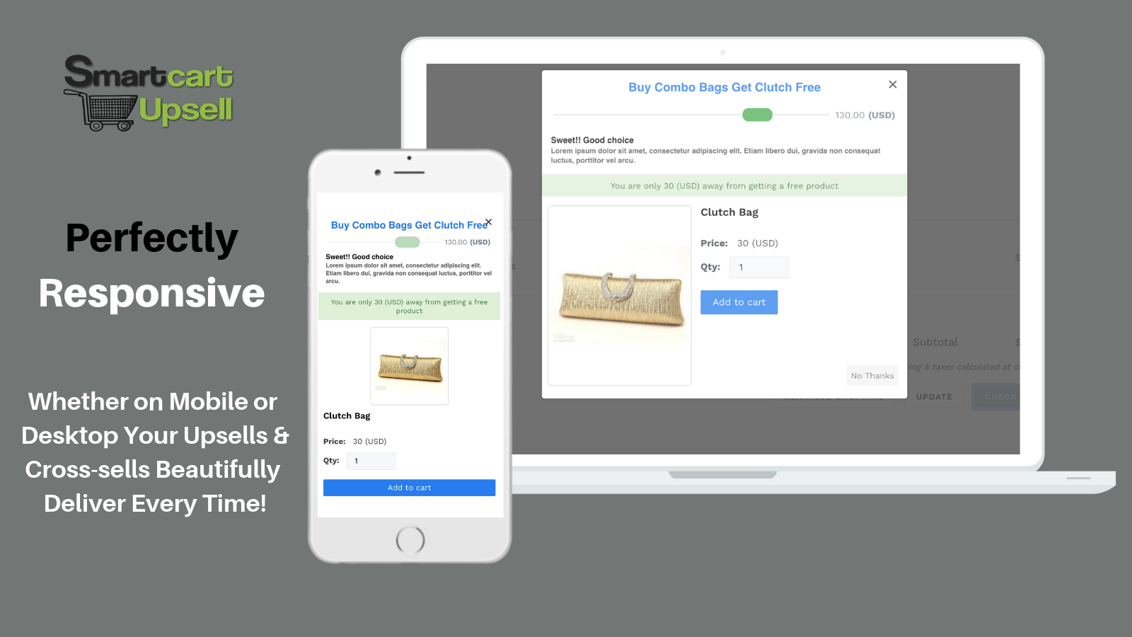 Mobile and Desktop Responsive Upsell and Cross-sells