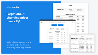 Save price list in PDF or XLS formats, directly from the store