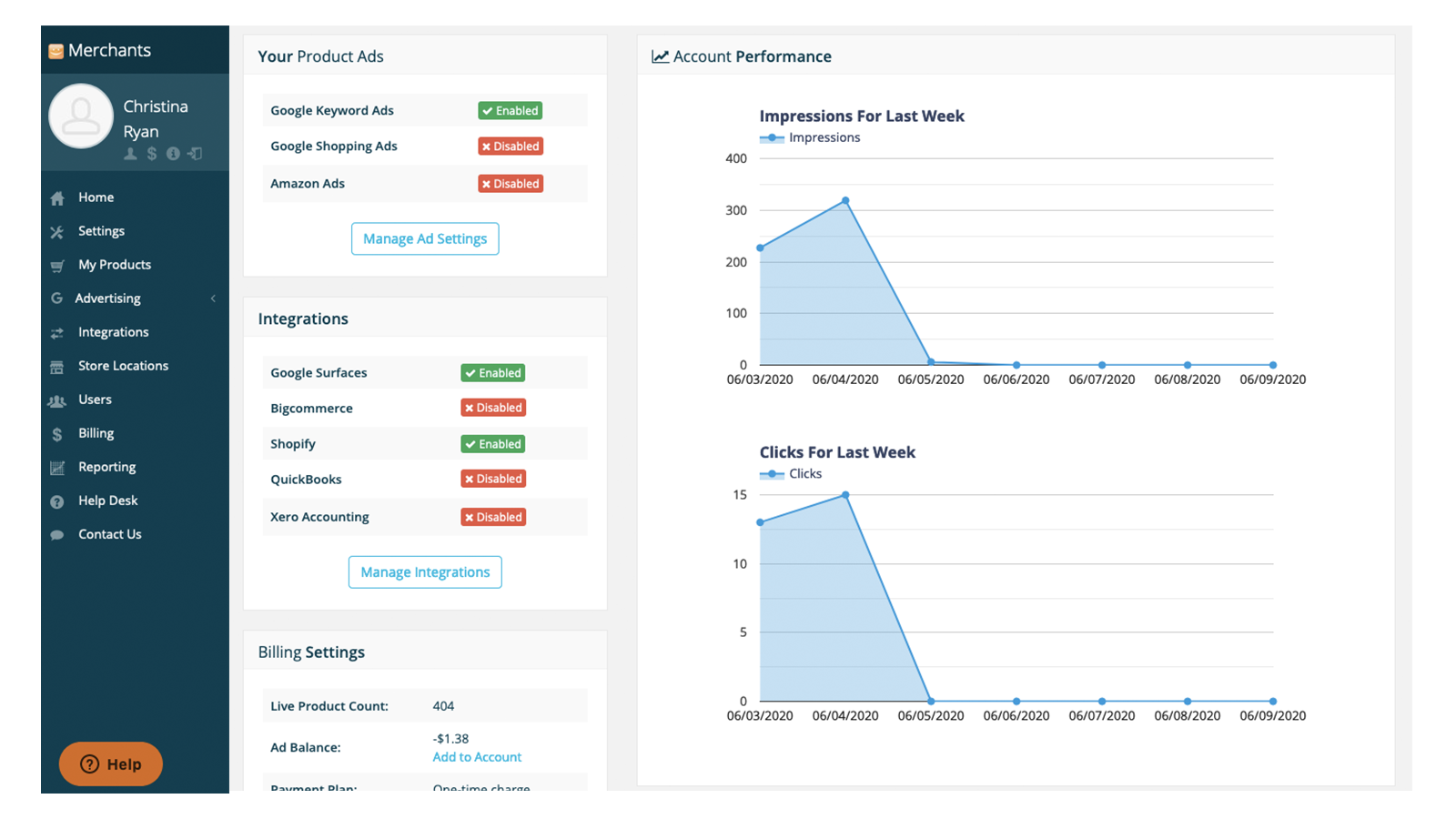 Our easy to use dashboard