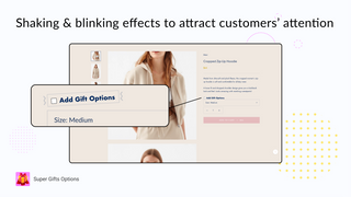 Attract visitors' attention to the gift options with animations