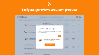 Assign custom products to reviews, if needed