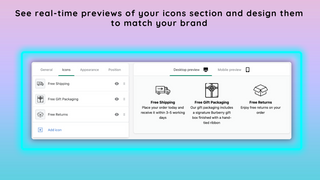 Real-time previews of your icons