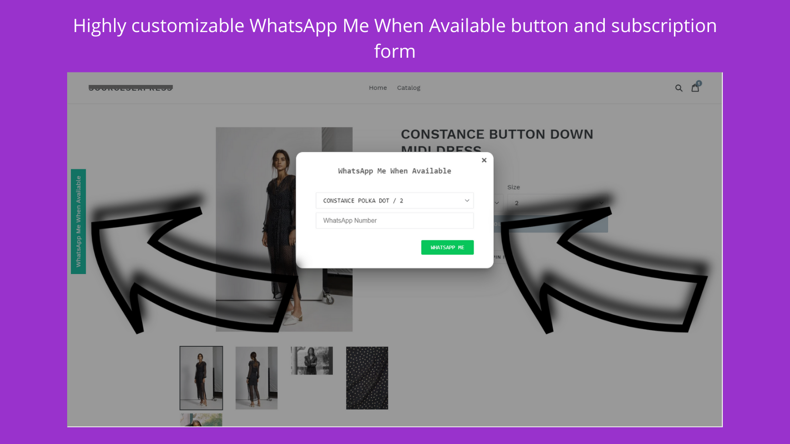 Highly customizable buttons and subscription form