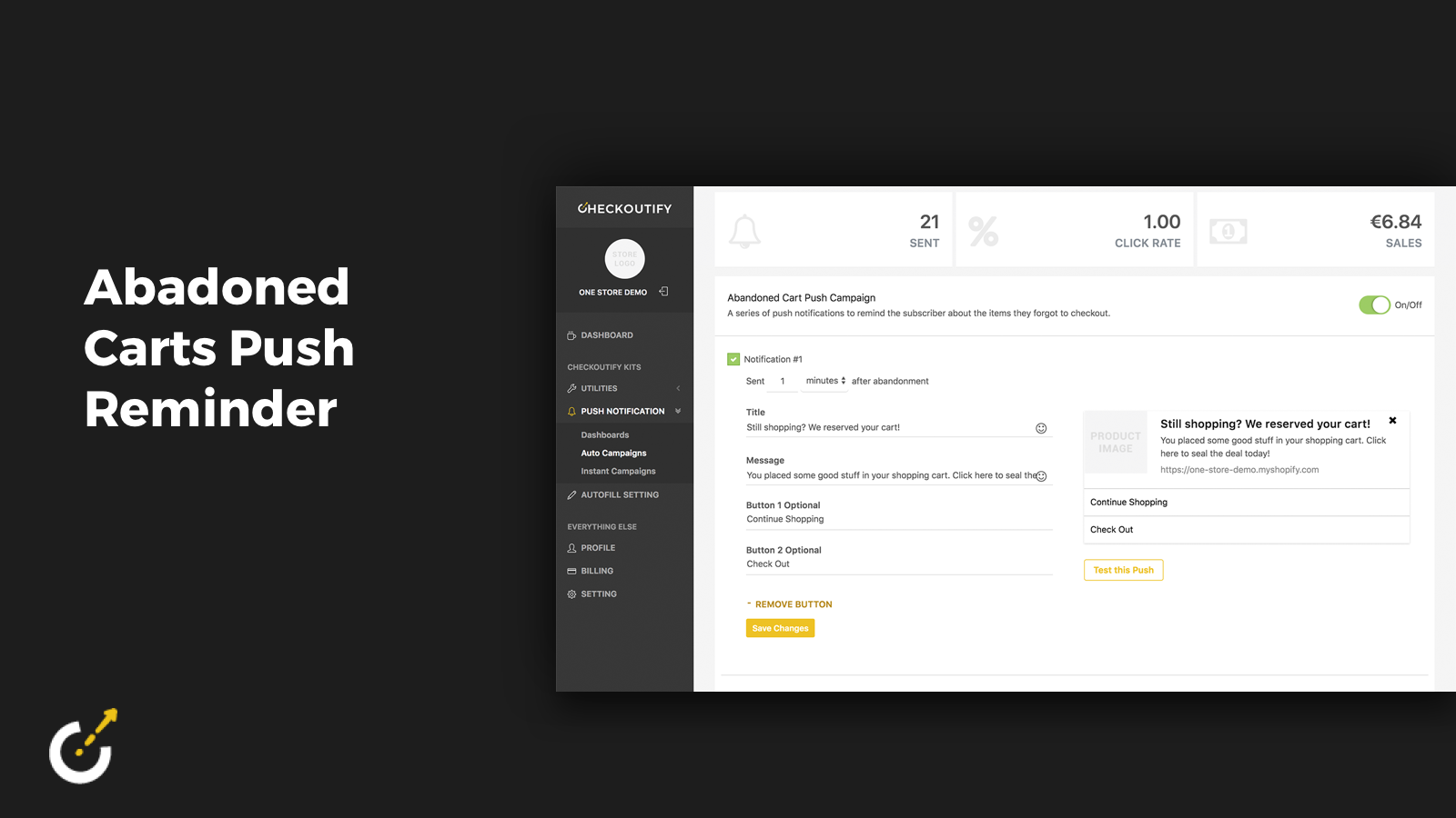 Automated Checkoutify Push Campaigns