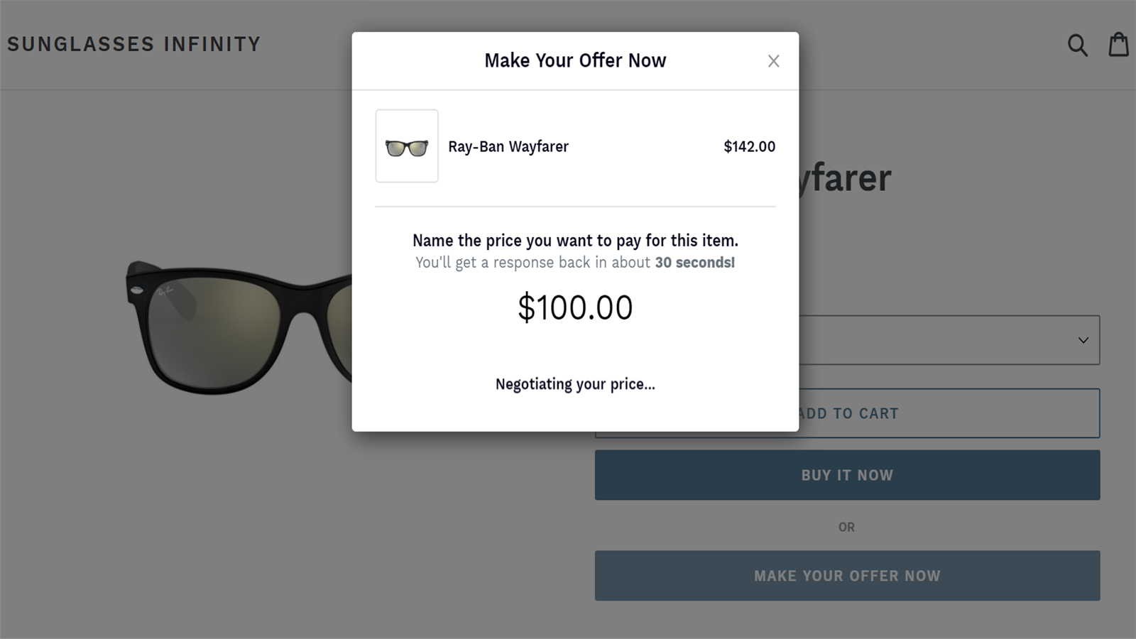 Shoppers see their offer is being negotiated in real time
