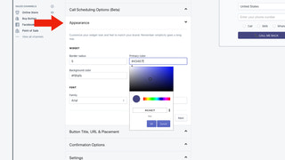 embed callback button anywhere on the shopify site