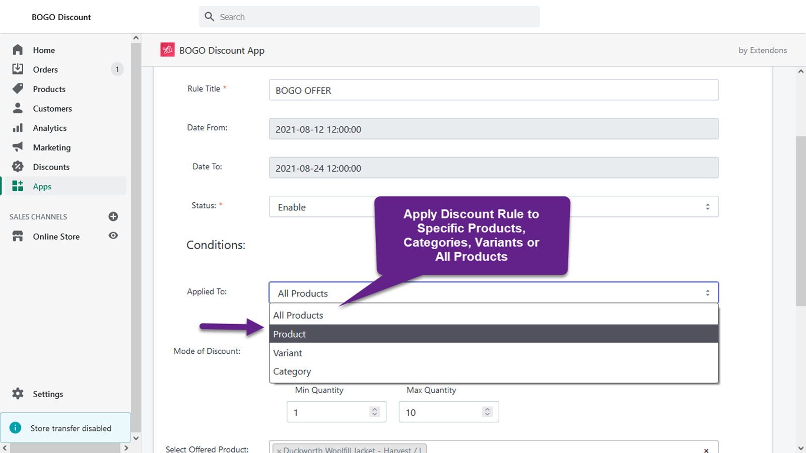 Apply Discount Rule to Specific Products, Categories, & more