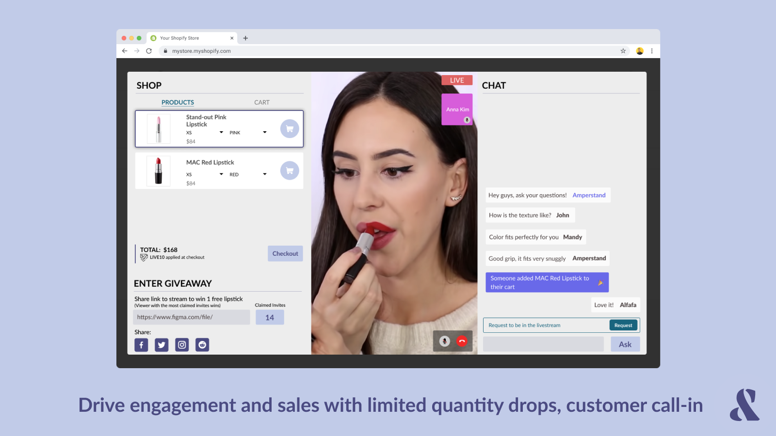 Drive sales with limited quantity drops, customer call-in
