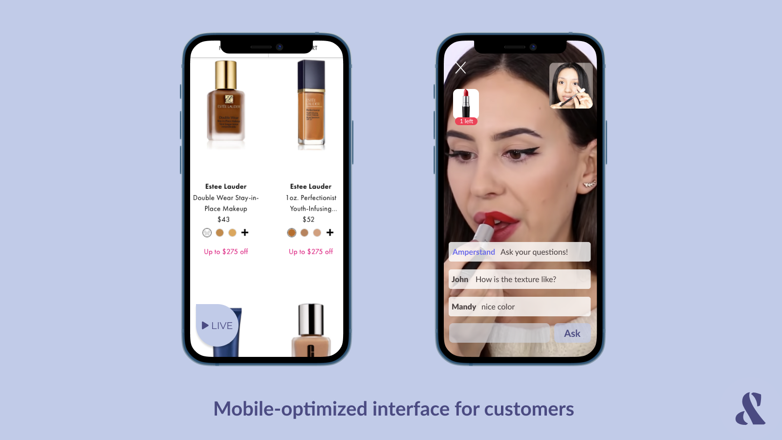 Mobile-optimized interface makes buying easy