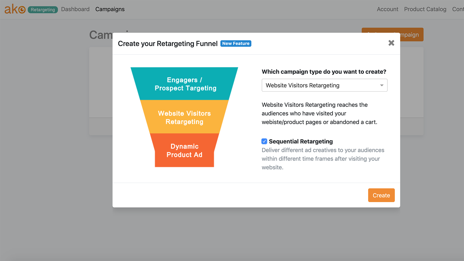 Create your retargeting funnel