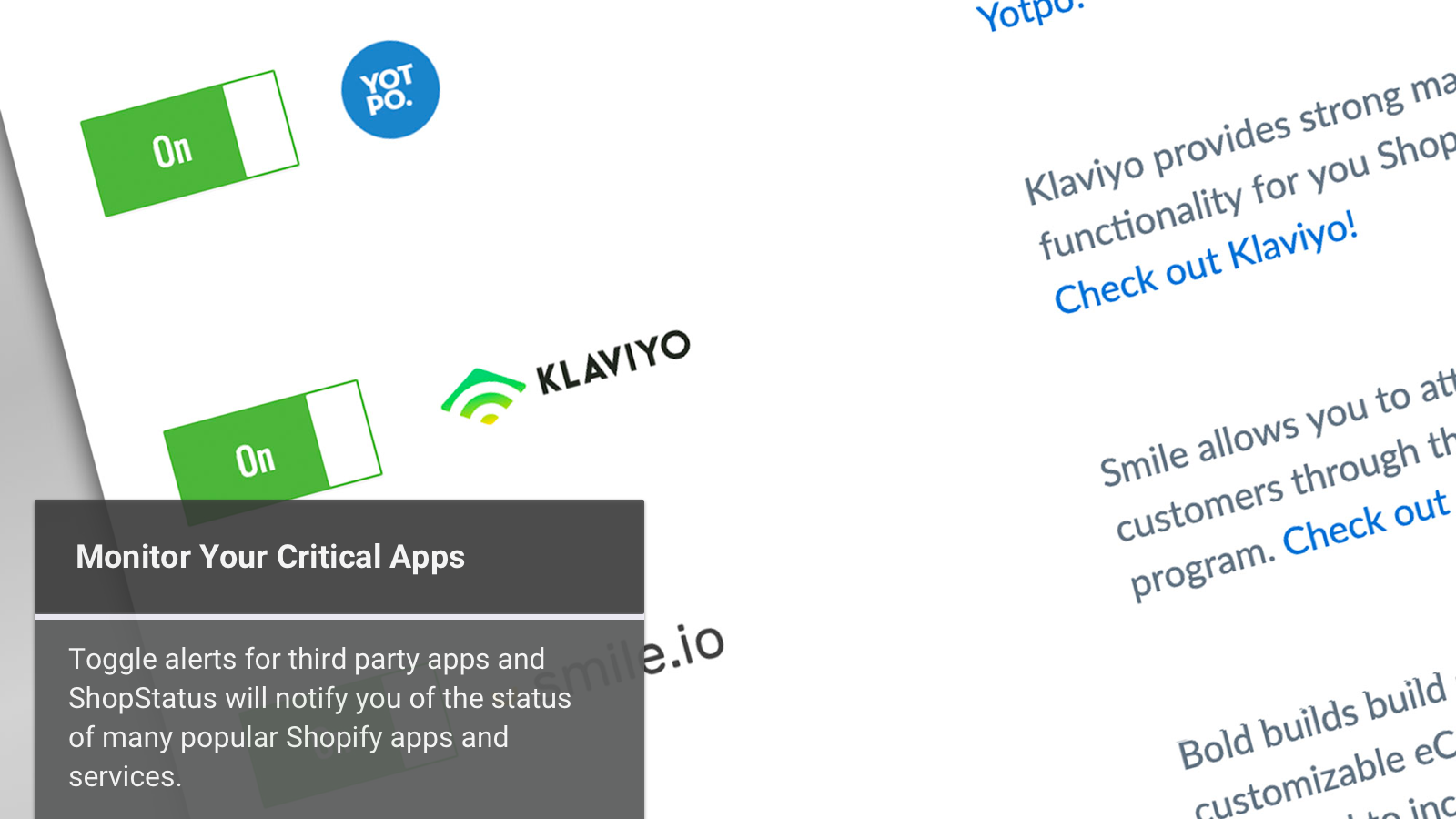 Keep Watch on Critical Apps