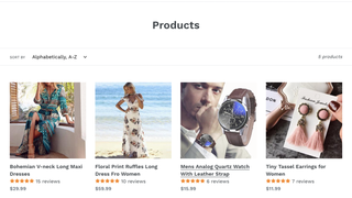Star Rating Under Product Title In Collections Page
