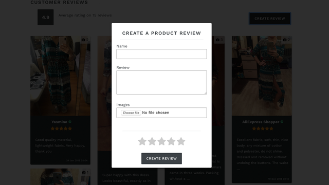 Create Review Widget In Product Page