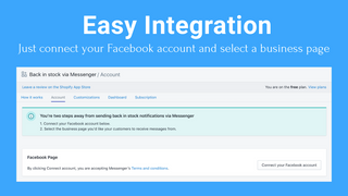 Easy integration: Just connect your Facebook account and select