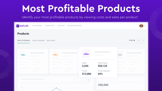 Spot your most profitable products by viewing costs and sales