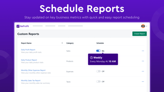 Easily schedule reports to stay updated on key business metrics