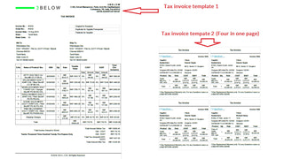 Tax Invoice Templates  - Shipping