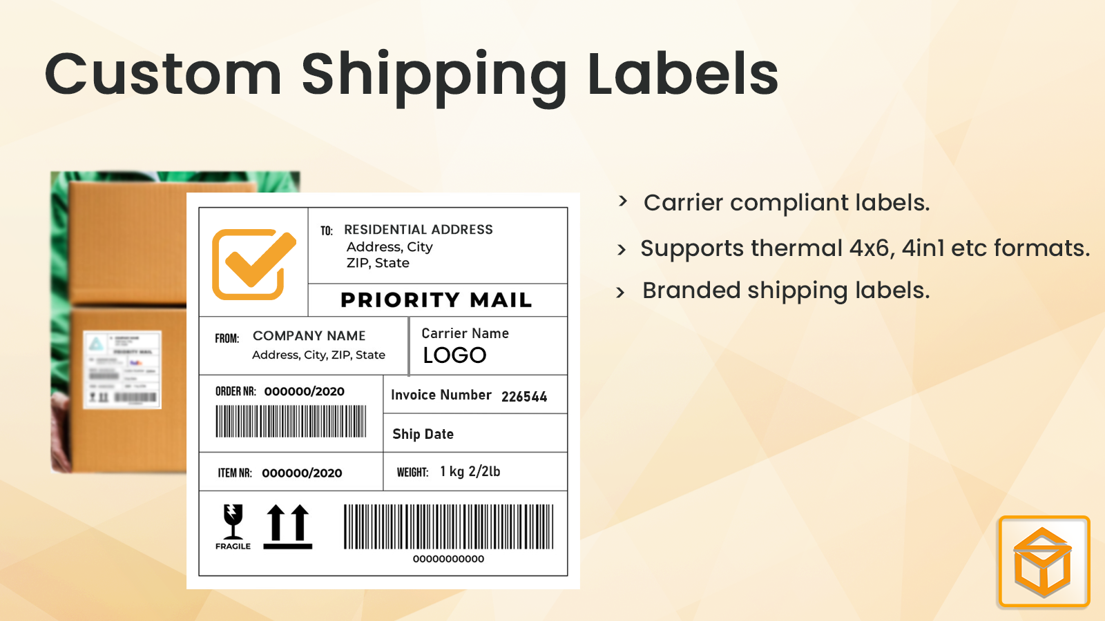 Branded Shipping Labels
