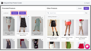 Reorder or Unpin Promoted Products