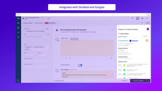 Integrates with Zendesk and Gorgias