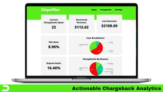 Disputifier Chargeback Analytics