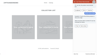 product tags selection