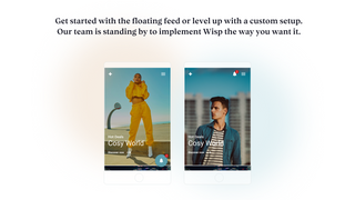 Choose between a floating widget or custom implementation.