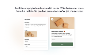 Launch campaigns in minutes with powerful call to actions.