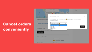 cancel orders conveniently
