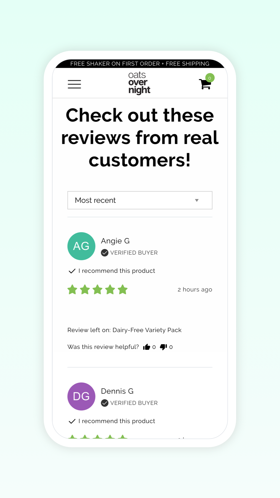 Beautiful product reviews form