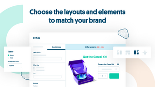 Choose the layouts and elements to match your brand