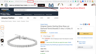 Links redirected to Amazon with the Affiliate Tag
