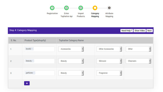 map your Shopify product type with Tophatter ctegories