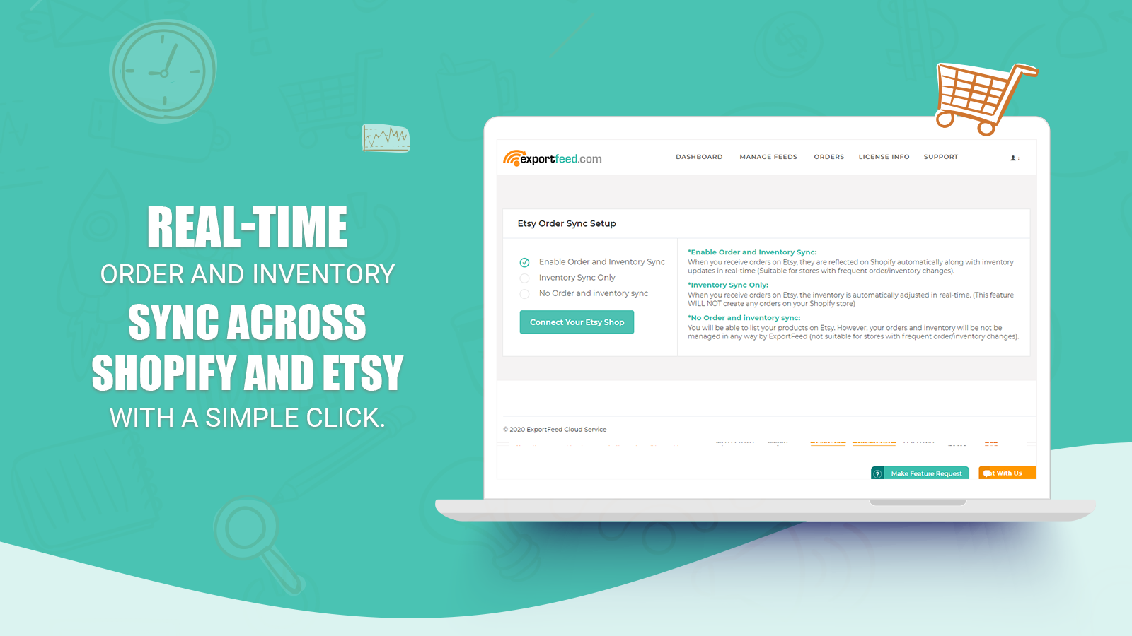 Etsy real-time order and inventory sync