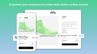 carbon neutral shipping and manufacturing option in cart page