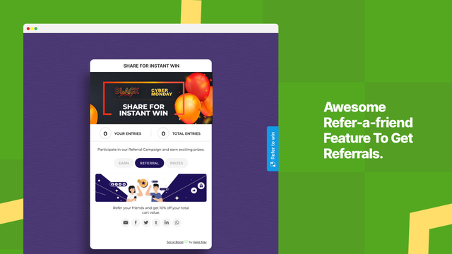 refer a friend, referral, refer to win, refer for chance to win