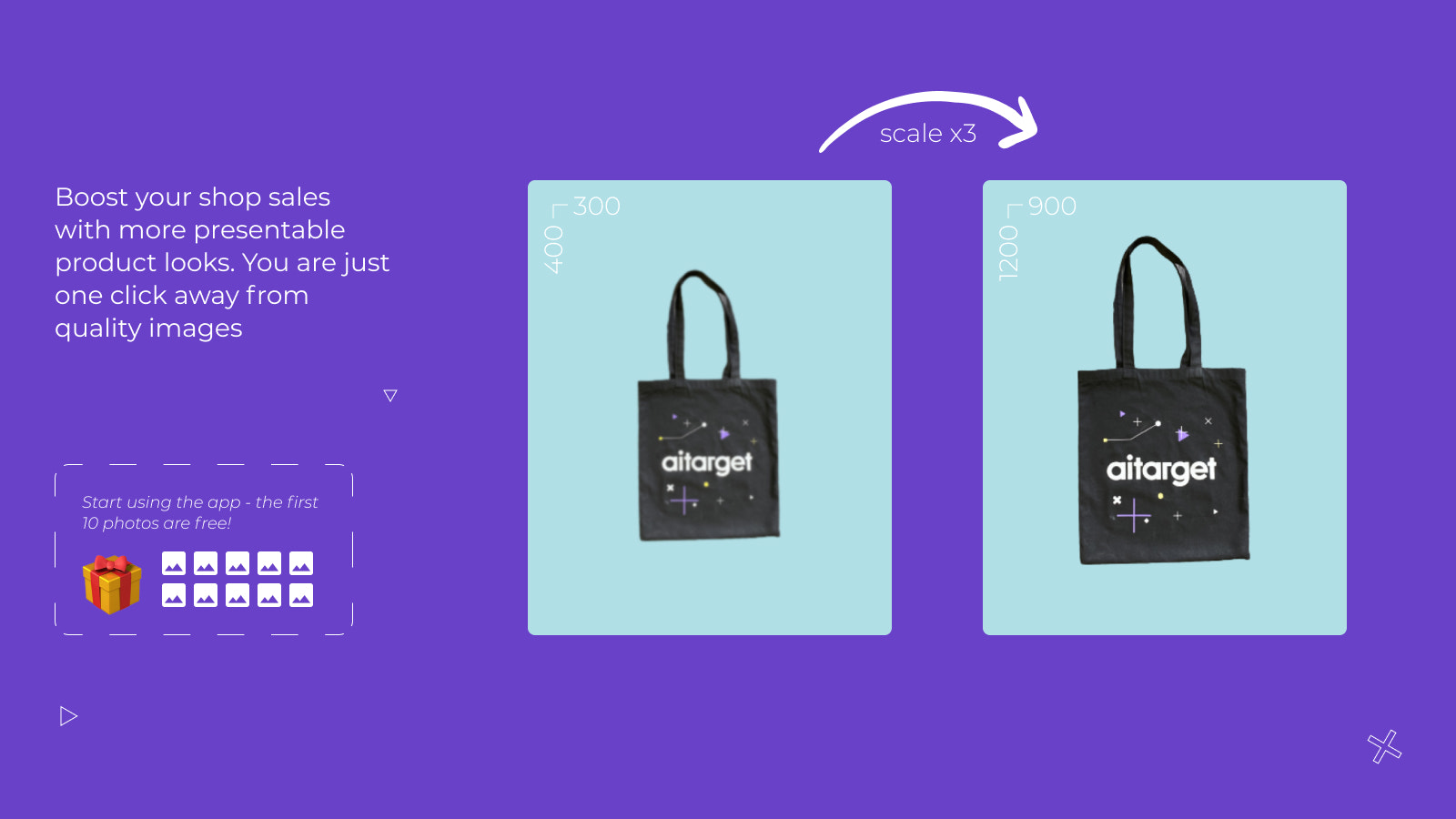Boost your shop sales with more presentable product looks.